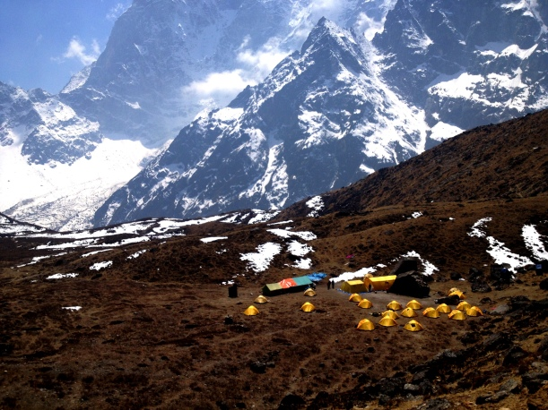 Home sweet home: the beautiful remote setting of IMG's Lobuche Base Camp.